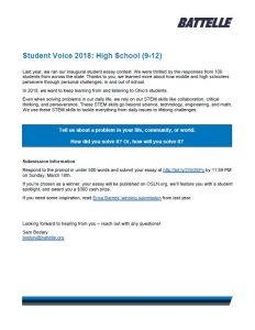 Student Voice 2018_High School